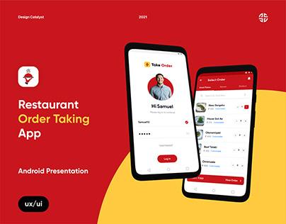 Take Order - Android Presentation
