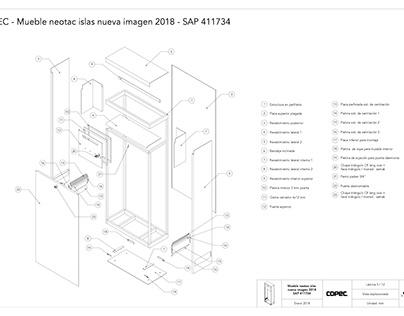 Planos de mueble 04 para Compomet Industrial