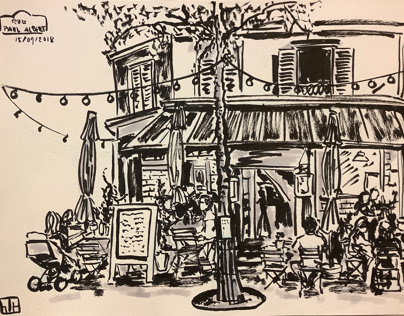 Urban sketch Paris