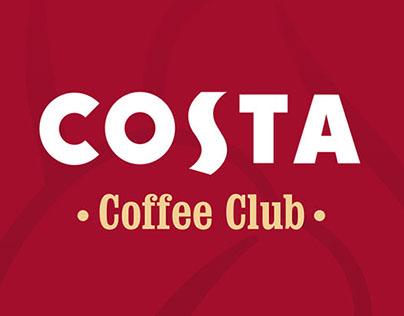 Costa Coffee - members club UI app design