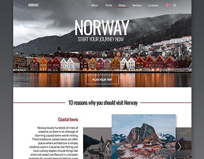 Landing page / Norway
