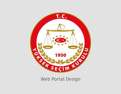 Yüksek Seçim Kurulu - WEb UIDesign,Frontend Development
