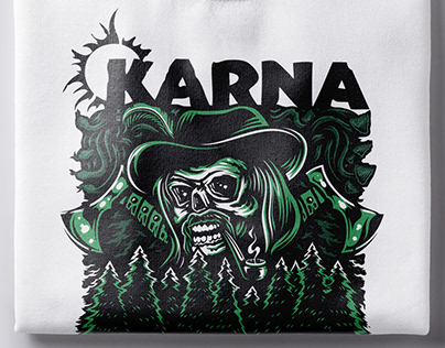 "Vector artwork for metal band ""Karna"""