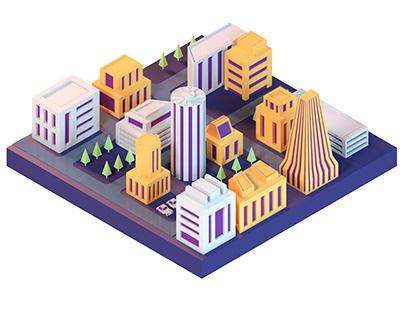 3D Isometric illustrations