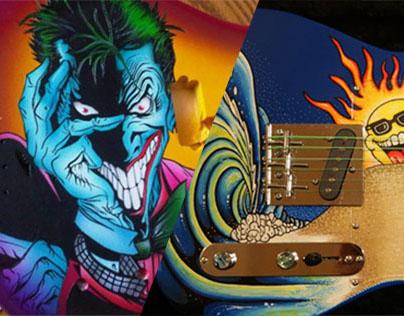 Custom Guitar Paint Work