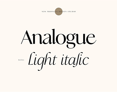 Analogue - Stylish Modern font