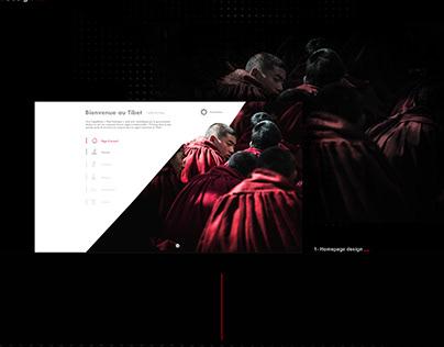 "Web design / Digital Book ""L'histoire du Tibet"