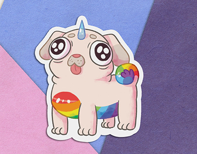 Rainbow Pets Stickers