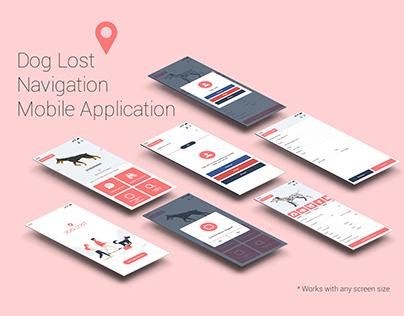 Dog Lost App Screens Design