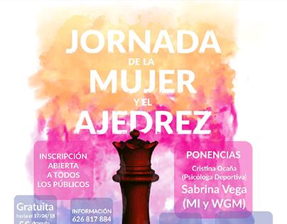 Cartel Jornada de la Mujer y el Ajedrez
