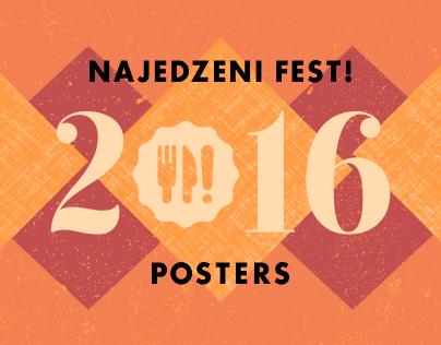 Najedzeni Fest! Posters