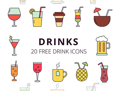 Drinks Vector Free Icon Set
