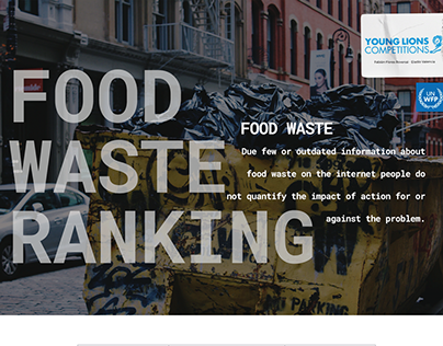 Food Waste Ranking / Young Lions 2020