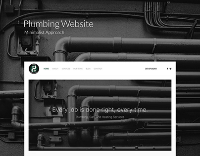 Minimalist Plumbing Website