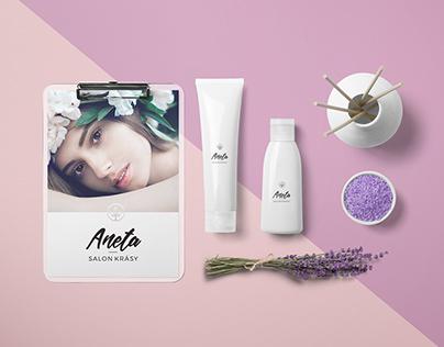 Salon Aneta - branding, web design