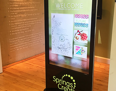 Springs Creative Welcome Signage