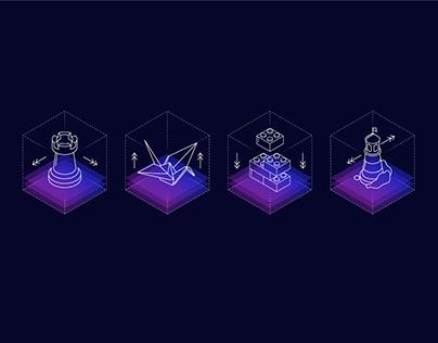 Flatstudio Gambling: Isometric Icons
