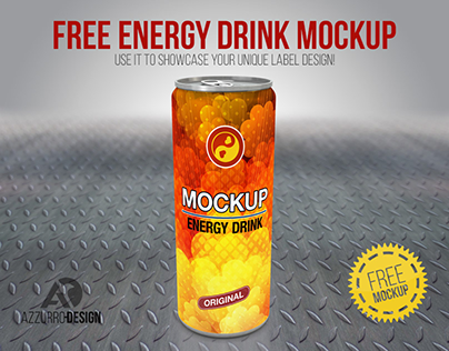 FREE energy drink mockup (PSD)