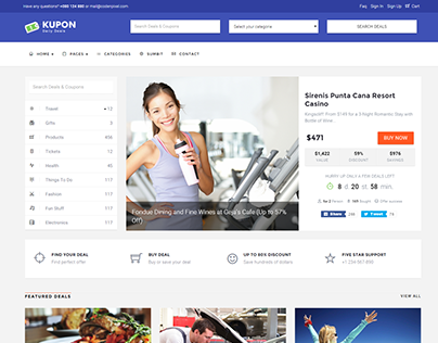 KUPON  - Deals & Discounts - Material design
