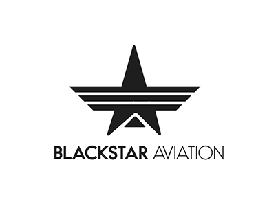 """BlackStar Aviation"" Logo Design."