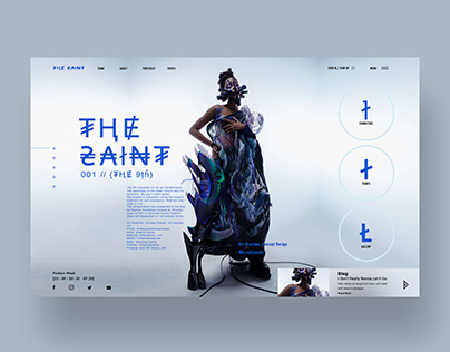 The Saint 001 Ui Design Landing Page
