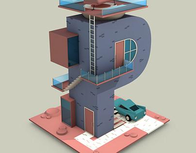 Isometric Letter Animation