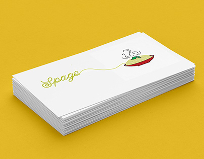 Spago- business card