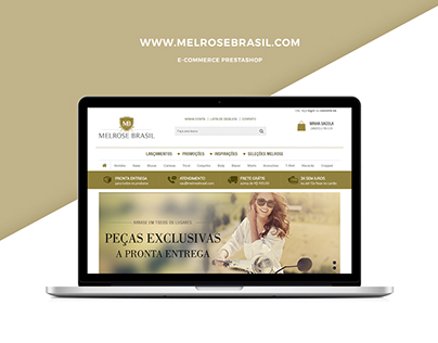 E-commerce Melrose Brasil [Prestashop]