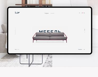 Furniture Online shop concept