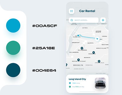 Car Rental App UI Design