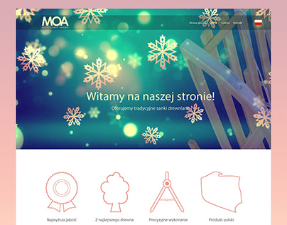 MOA - strona internetowa producenta sanek drewnianych