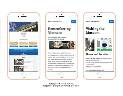 National Archives Museum Website Redesign