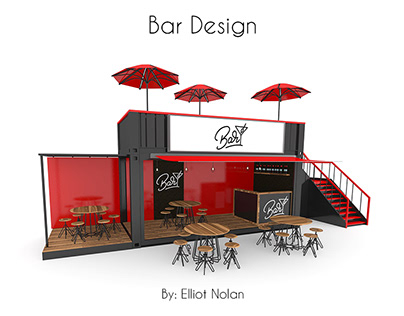 20ft Container bar concept