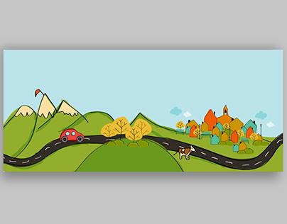 """Illustration for TV program """"Grandes Lugares"""""""