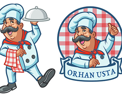 Turkish style mustache with orhan master's dishes