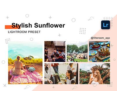 Lightroom Presets - Stylish Sunflower - Filteroom app