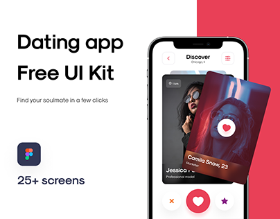 Dating app — Free UI Kit