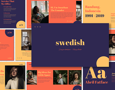 [FREE PRESENTATION] Swedish - Presentation Template
