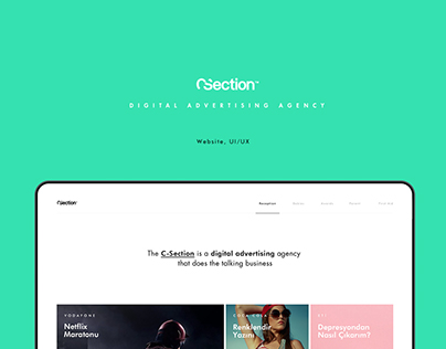 Digital Agency Website - C-Section