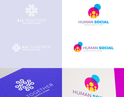 Logo Design Template for Community, People and Tech