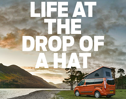 Ford UK Press Campaign 'Live Life at the Drop of a Hat'