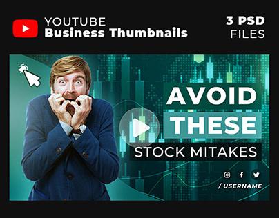 3 Stylish Youtube Thumbnail Template