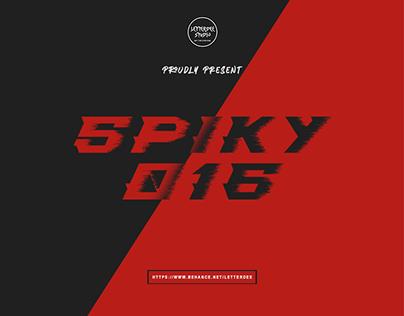 SPIKY 016 - SPORTY FONT