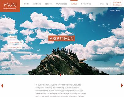 MUN landscaping website design