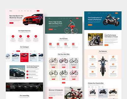E-Commerce landing page design