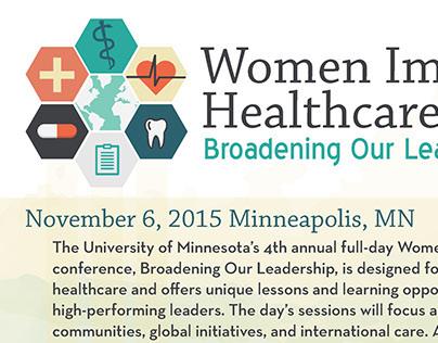 Women Impacting Healthcare Flyer