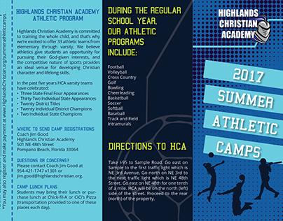 Summer Athletic Camps Quadfold Brochure