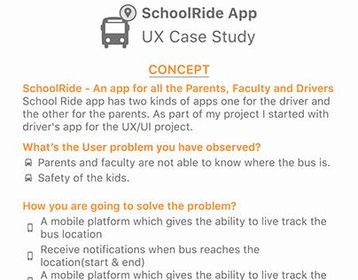SchoolRide App Ux Case Study