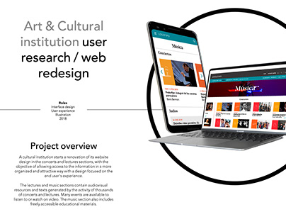 Art & Cultural institution User research / web redesign