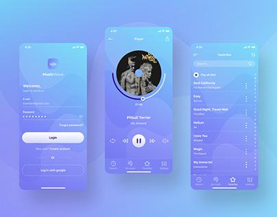 Music app design concept
